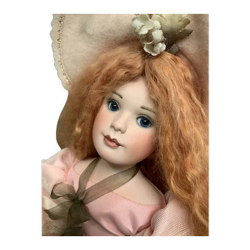 Ann Jackson Artist Original Porcelain With Cloth Stuffed Body Doll Fern LE 50