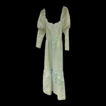 Gunne Sax 1984 Full Length Robin Egg Blue Gown Juniors Size 13