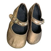 HG Bronze Leather Mary Jane Style Shoes