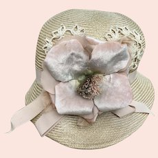 Marilyn Melrose Women's Custom Made Floral & Lace Hat 1990's NNW