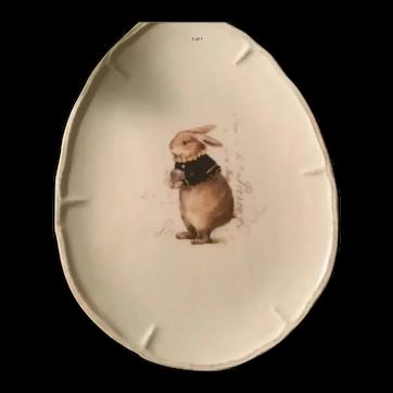 Rabbit Appetizer/Dessert Plates Egg Shaped