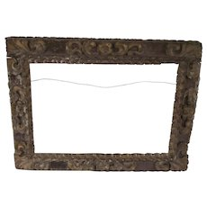 18th C. Italian Carved and Gilt-wood Picture Frame