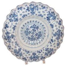 19th C. Dutch Delft Blue and White Basin