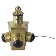 2 Brass 3-lens Running Lights