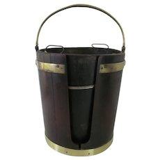 Period Georgian Mahogany and Brass Plate Bucket