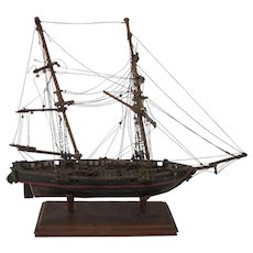 2 19th C. hand-made ship models