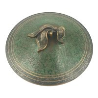 Carl Sorensen c1920-1930 Bronze Covered Bowl