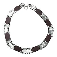 Jakob Bengel Galalith & Chrome Machine Age necklace