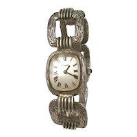 Exquisite Alexis Barthelay Paris Sterling Bracelet style Watch c1970's