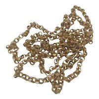 Triple Ring Links 18k Gold Chain Necklace