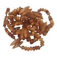 Baltic Amber Beads Vintage Necklace
