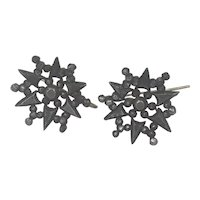 Antique Georgian Cut steel Earrings