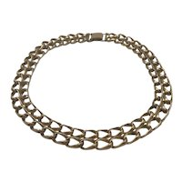 Vintage Coro Gold Filled Chain Collar Necklace