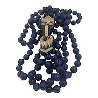 Ciner Fantasy Creations Horse Faux Lapis Lazuli Necklace