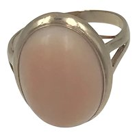 14k Gold Angel Skin Coral Ring