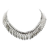 George W. Shiebler & Co Antique Sterling Collar Necklace