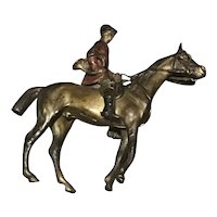 Cold Painted Austrian Bronze Horse and Rider