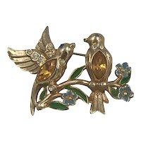 Coro Adolph Katz Love Birds Brooch Pin