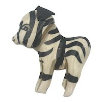Martha Sleeper Zebra Brooch Pin