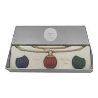 1974 Christian Dior Interchangeable Resin Pendents Necklace MIB