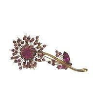 Austrian Rhinestone Flower Brooch Pin