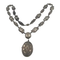 Made in France Necklace with a Locket Pendent