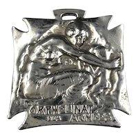 René  Lalique Antique  Orphelinat Des Armees French Badge Medal