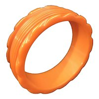 Bakelite Carved and Scalloped Pumpkin Bangle Bracelet