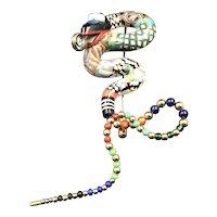 Cynthia Chuang Ceramic Snake Pin