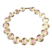 Venetian Glass Wedding Cake Beads Necklace