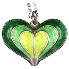 David Andersen Sterling Enameled Heart