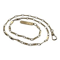 Vintage 14k Gold Chain with a Miniature Pocket Knife