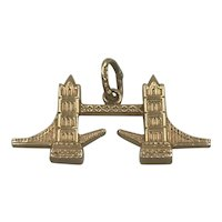 London Bridge 18k Charm Pendent Carl Baumeister