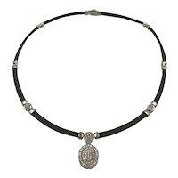 Charriol 18k Gold & Black pvd Chain Celtic Noir Pendent Necklace