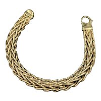 14k flat woven Chain Bracelet