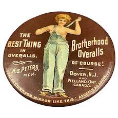 Brotherhood Overalls Advertisers Mirror World War One Era