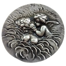 Unger Brothers Art Nouveau Sterling Lovers Dream Brooch Pin