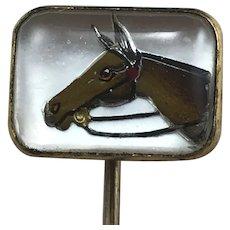 Horse Head Reverse Intaglio Stickpin