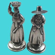 Japanese Sterling Figural Salt & Pepper Shakers