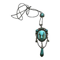 Neiger Brothers Egyptian Revival Czech Glass Slide Necklace