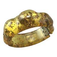 Rare Stardust Glitter Bakelite clamper