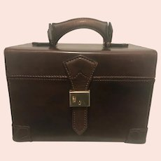 Bottega Veneta Vintage Leather Cosmetics Train Case