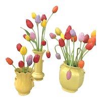 Collection of German blown glass Bimini tulips