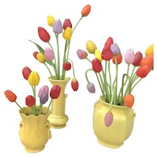 Collection of German blown glass Bimini tulips