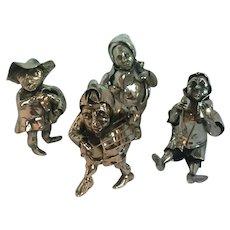 Buccellati  Sterling Silver Comical Dwarf Figures