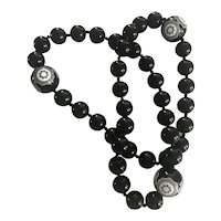 Paloma Picasso carved Bakelite bead necklace: Tiffany & Co.
