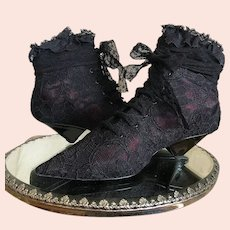Saint Laurent Black Lace Boots / Lace Booties / Ankle Boots / Made in Italy / Size 37