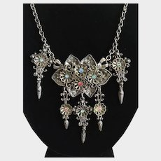 Antique Necklace / Festoon Necklace / Rhinestones / Thief of Bagdad Style / Bohemian