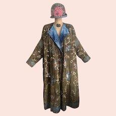 Authentic 1920's Opera Coat / Beaded Coat / Art Deco Coat / Flapper Coat / Size M