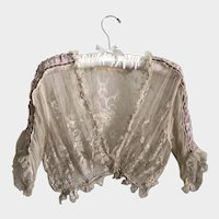 Antique Lace Bolero Jacket Bridal Separates Wedding 1900's